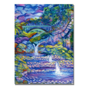 Trademark Art Seven Pools Canvas Art by Manor Shadian