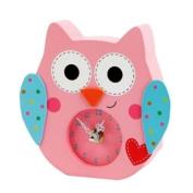 Happi by Dena Wooden Owl Clock, Happi Baby Girl