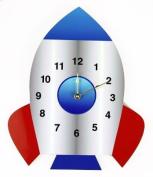 Rikki Knight Rocket Ship Wall Clock