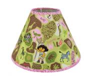 Trend Lab Nickelodeon Dora the Explorer Exploring the Wild Lamp Shade, Pink/Green