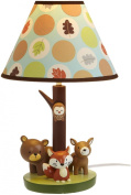 Carter's Forest Friends Lamp Base And Shade, Tan/Choc, 14cm x 30.5cm