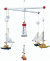 Mobile sailboat and lighthouse 7205
