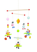 Beetles and Bees Wooden Ceiling Mobile