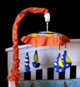 MUSICAL MOBILE NAUTICAL SAILBOATS by DK LEIGH to MATCH BABY SAILOR