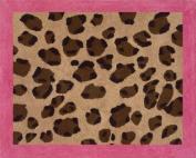 Cheetah Girl Pink and Brown Accent Floor Rug by Sweet Jojo Designs