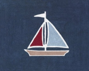 Nautical Nights Sailboat Accent Floor Rug by Sweet Jojo Designs