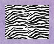 Purple Funky Zebra Accent Floor Rug by Sweet Jojo Designs