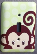 Monkey Jungle Nursery Single Toggle Lightswitch Plate Cover