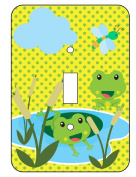 Froggies Frog Pond Single Toggle Light Switchplate Cover