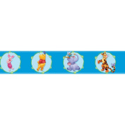 Blue Mountain Wallcoverings DS026251 Pooh Cameo Self-Stick Wall Border, 12.7cm by 4.57m
