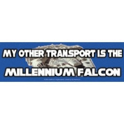 Star Wars My Other Transport is the Millennium Falcon Sticker