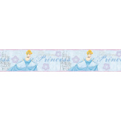 Blue Mountain Wallcoverings DS026261 Cinderella Dear Diary Self-Stick Wall Border, 12.7cm by 4.57m