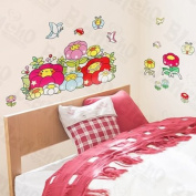 [Happy Flowers] Decorative Wall Stickers Appliques Decals Wall Decor Home Decor