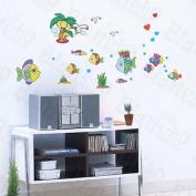 [Happy Fish] Decorative Wall Stickers Appliques Decals Wall Decor Home Decor