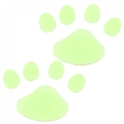 Amico Glow in Dark Yellow Plastic Paw Footprint Luminous Sticker 10 Pcs