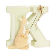 "Child to Cherish Baby Pastel Animal Alphabet Letter ""K"""