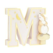"Child to Cherish Baby Pastel Animal Alphabet Letter ""M"""
