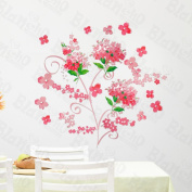 [Wedding Flowers] Decorative Wall Stickers Appliques Decals Wall Decor Home Decor