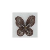 24 Brown Organza Nylon Wire Butterfly Wedding Arts and Crafts Decorations 5.1cm Big