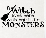 Wallstickersusa Wall Stickers, a Witch Lives Here with Her Little Monsters
