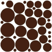 34 BROWN POLKA DOTS...WALL STICKERS ART DECALS DECOR