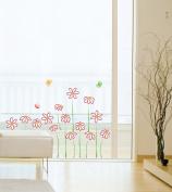 Jiniy FLOWER & BUTTERFLY Kids Wall Decals Deco Mural Sticker