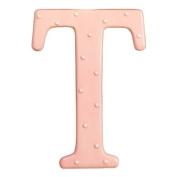 Alphabet Soup Ceramic Letter T, Pink 15.2cm