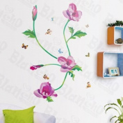 [Bees Love Flowers] Decorative Wall Stickers Appliques Decals Wall Decor Home Decor