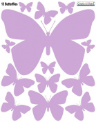 Butterfly Wall Decals -Lavendar Butterfly Peel & Stick Appliques'