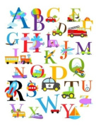 Alphabet Transportation Nursery Wall Art