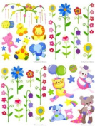 Bundle of 4 Kids/Baby Room Vinyl Wall Mural Stickers