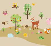 Forest Animals Baby/Nursery Wall Sticker Decals for Boys and Girls