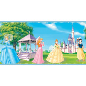 Imperial Disney Home DF059192B Fantasy Princess Border, Blue, 22.9cm Wide