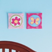 Okie Dokie Butterfly Circles 2-pc. Wall Art