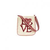 Love Canvas Messenger Bag