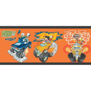 Imperial Disney Home DF059203B Mickey Monster Truck Border, Orange, 26cm Wide