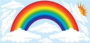 Rainbow and Clouds Mini Wall Stickers, Decals, Nursery Wall Decor