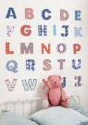 FunToSee Uppercase Alphabet Themed Room Decals, Letters