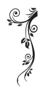 WallStickersUSA Wall Sticker, Black Floral Tribal