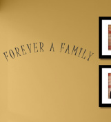 #2 Forever a family vinyl Wall Decals Quotes Sayings Words Art Decor Lettering vinyl wall art inspirational uplifting