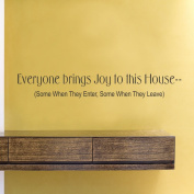 Everyone brings joy to this house vinyl Wall Decals Quotes Sayings Words Art Decor Lettering vinyl wall art inspirational uplifting
