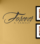 Forever a family vinyl Wall Decals Quotes Sayings Words Art Decor Lettering vinyl wall art inspirational uplifting