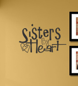 Sisters by heart Vinyl Wall Decals Quotes Sayings Words Art Decor Lettering Vinyl Wall Art Inspirational Uplifting