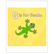Matthew Porter Art Wall Decor Art Print, Alphabets, G is for Gecko