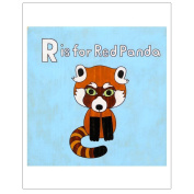 Matthew Porter Art Wall Decor Art Print, Alphabets, R is for Red Panda