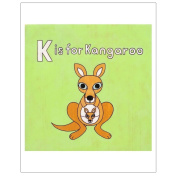 Matthew Porter Art Wall Decor Art Print, Alphabets, K is for Kangaroo