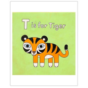 Matthew Porter Art Wall Decor Art Print, Alphabets, T is for Tiger
