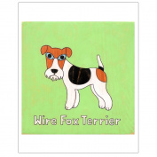 Matthew Porter Art Wall Decor Art Print, Alphabets, Wire Fox Terrier