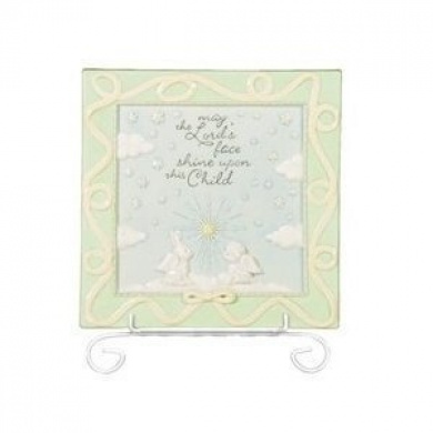 Grasslands Road Heaven Sent Nursery Plaque, May the Lord Shine Upon This Child