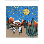 Matthew Porter Art Wall Decor Art Print, Home is Saddle Monkey
